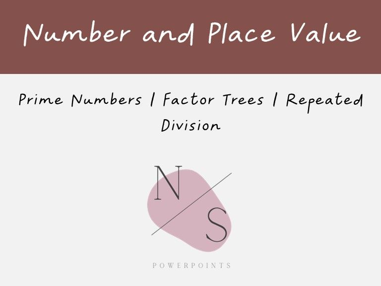 Prime Numbers and Factor Trees Lesson Presentation