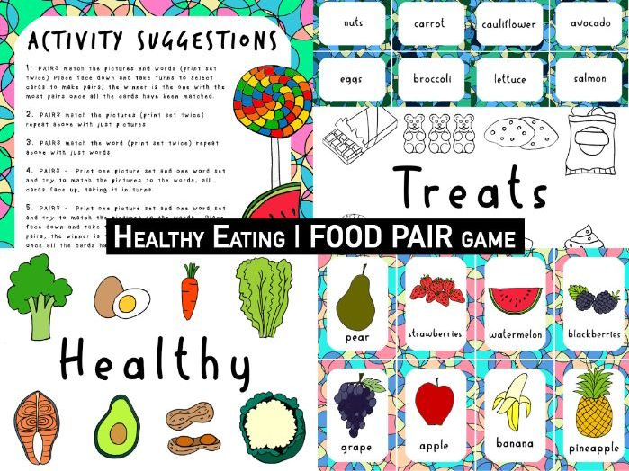 Healthy Eating | EARLY YEARS FOOD | Pairs matching game