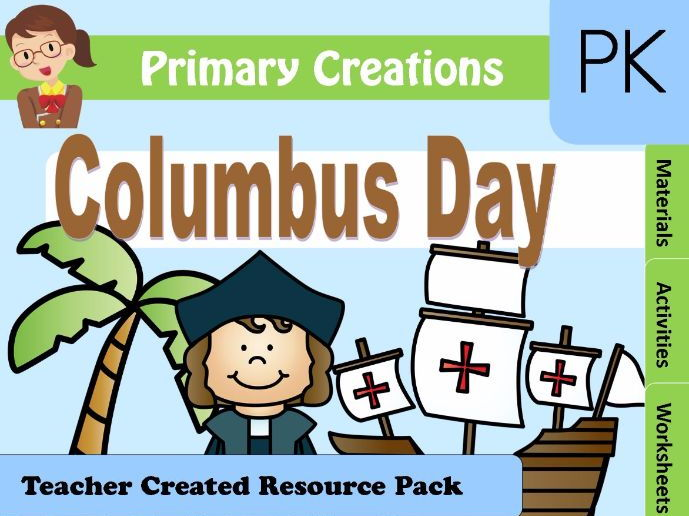 Christopher Columbus PreK Activities Pack (USA Edition)