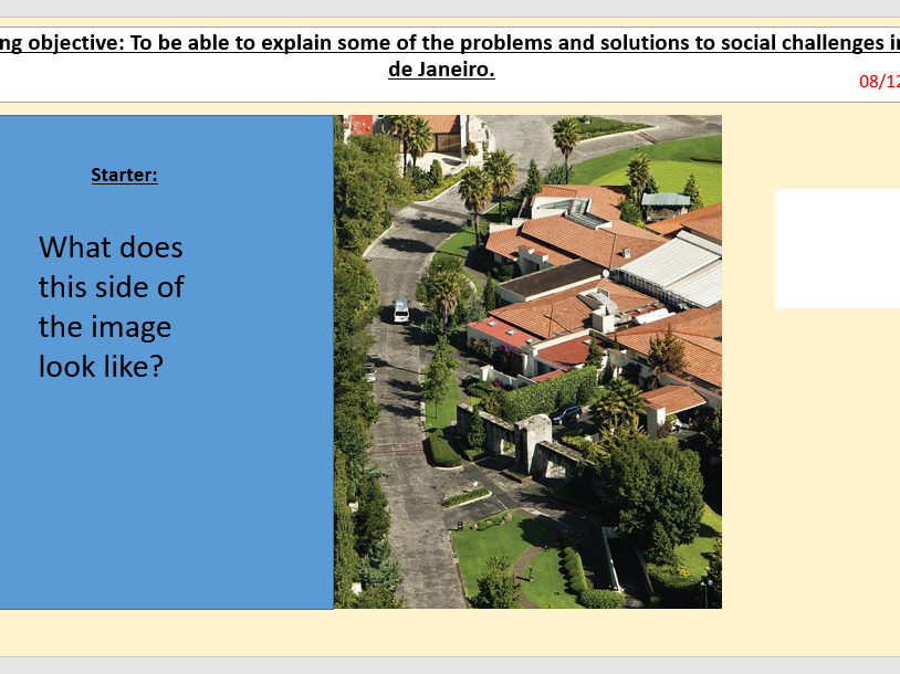 L4/9 Social Challenges in Rio de Janeiro (Urban World) [AQA GCSE Geography new spec]