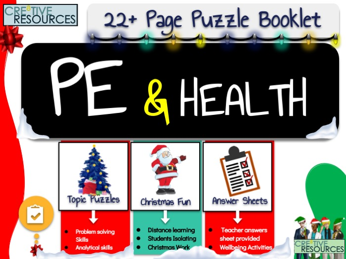 PE Christmas Puzzle Work Book
