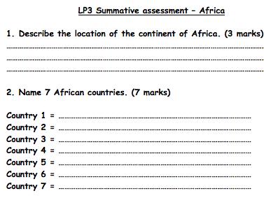 KS3 Africa - Assessment