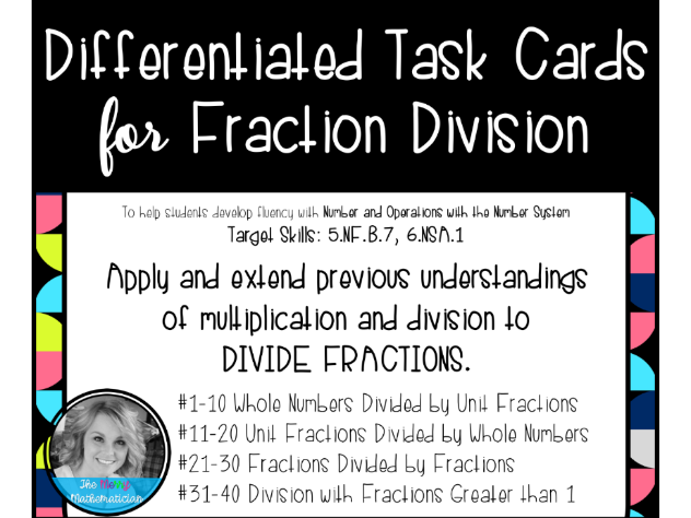 Differentiated Task Cards for Fraction Division