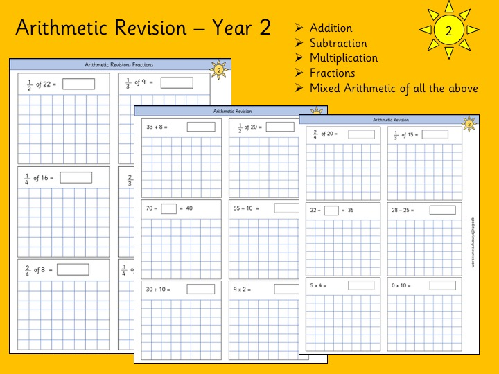 Year 2 Arithmetic Revision