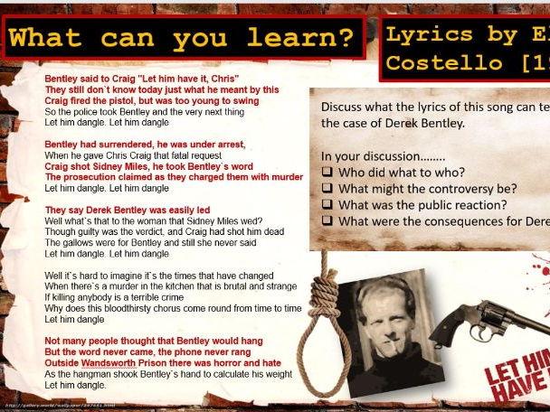 Lesson 28 GCSE History Edexcel 1-9 Crime and Punishment 1900-Present: Derek Bentley