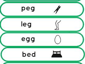 Phonics cvc words in a strip format  first set