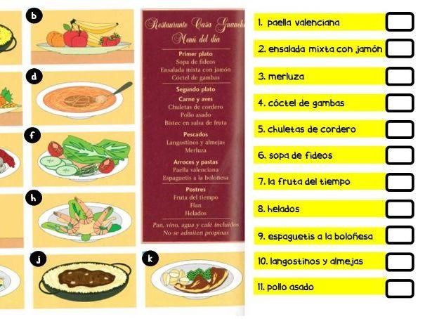 Spanish - En el restaurante - La Comida KS5 GCSE IGCSE