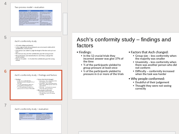 AQA A-level Psychology Social Influence Revision Summary