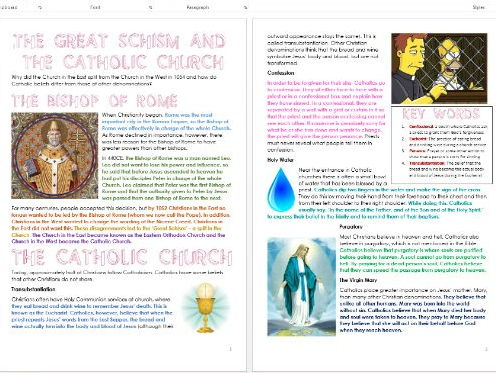 Christianity: Great Schism and the Catholic Church: Differentiated Information and Activity Sheets