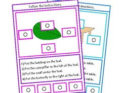 Autism Reading & Following Directions Picture Task Boards, Special Education