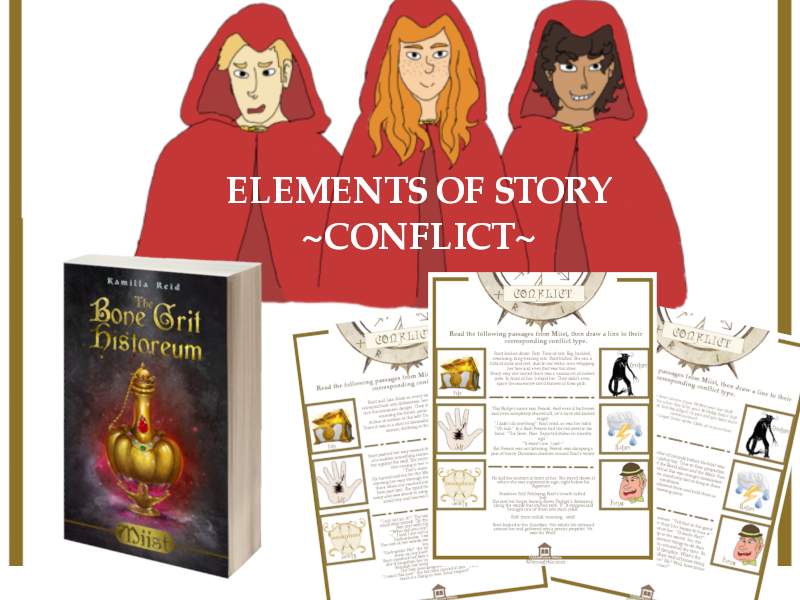 Elements of Story - Conflict to accompany the middle grade novel, Miist
