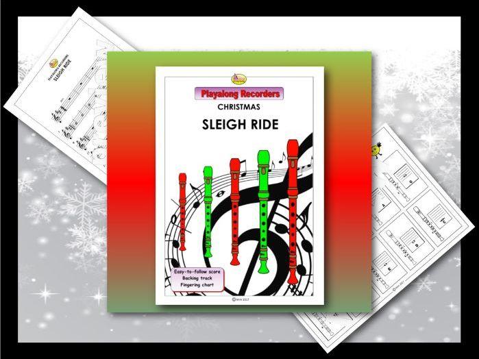 "Playalong Christmas Recorders ""SLEIGH RIDE"""
