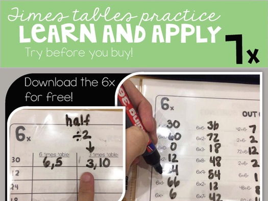 7 Times Tables Packet