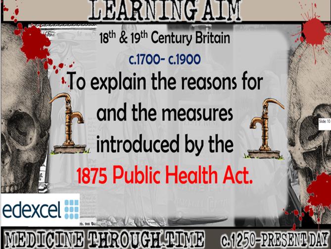 GCSE History Edexcel: Medicine in Britain - The Public Health Act 1875 (Lesson 24)