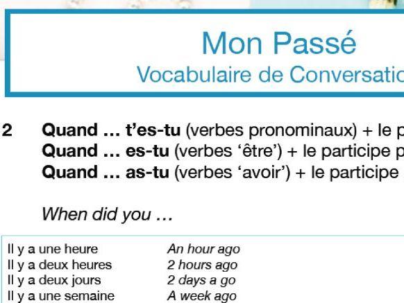 Confident Conversations Mini Pack: Mon Passé