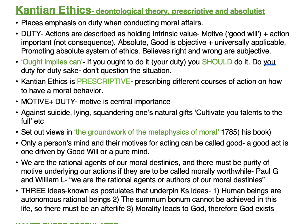 OCR RELIGIOUS STUDIES- FULL ETHICS AS NOTES