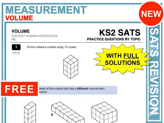 KS2 Maths (Volume)