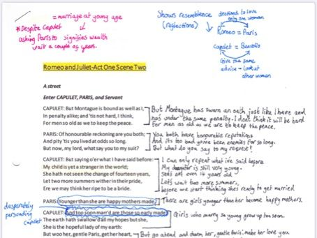 Romeo and Juliet A1S2 annotated