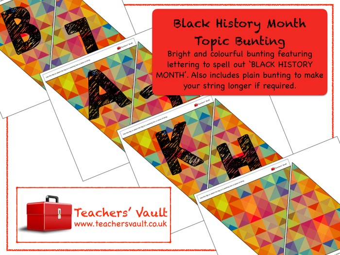 Black History Month Topic Bunting