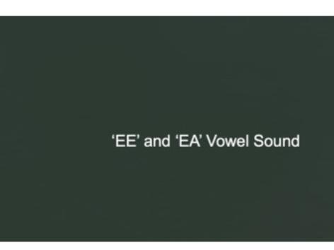 'ee' and 'ea' Vowel Sound