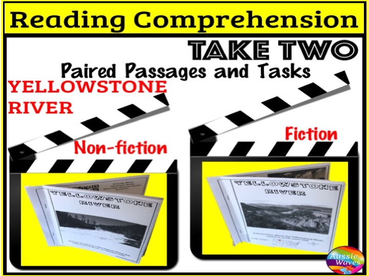 Reading Comprehension Paired Texts and Activities: myth and informational Topic YELLOWSTONE RIVER