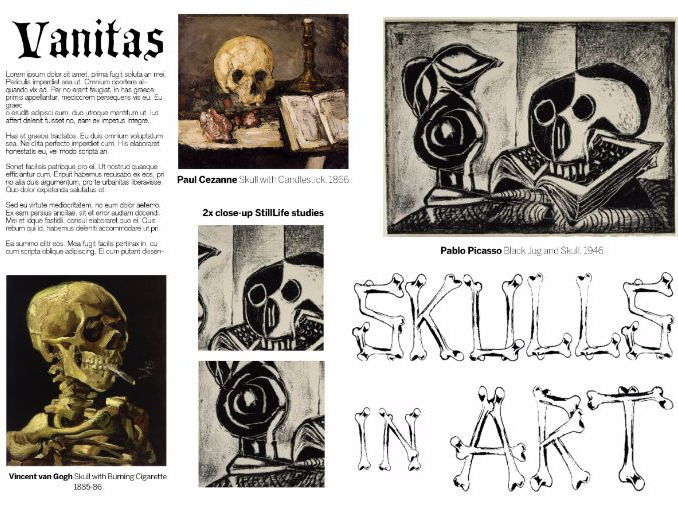 Skulls in Art - Vanitas Homework