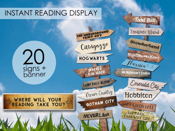 Reading Display, Instant Reading Corner Display, Reading Area Signs