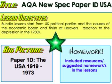 GCSE 9-1 AQA PAPER 1D  USA