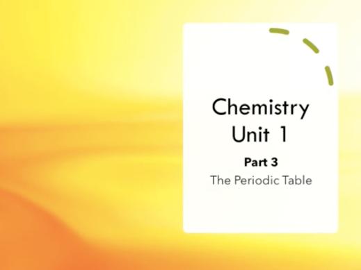 GCSE AQA Chemistry Revision Video Unit 1 - PART 3/3