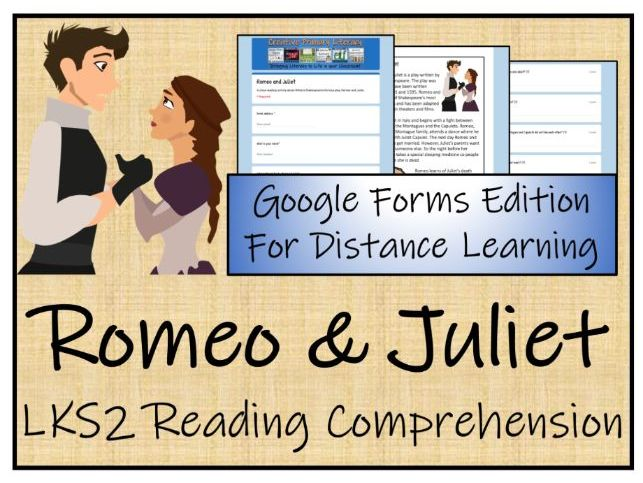 LKS2 Romeo and Juliet Reading Comprehension & Distance Learning Activity