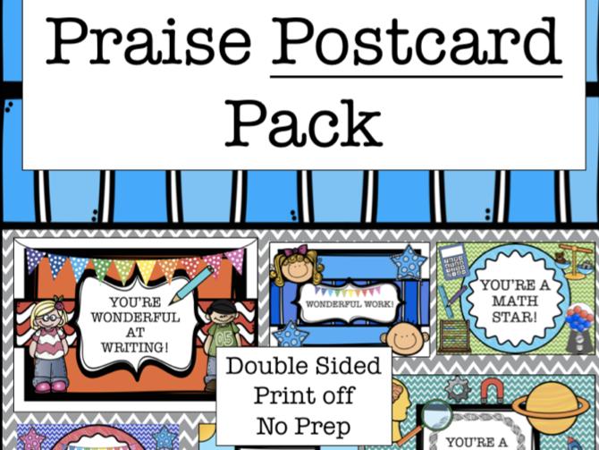 Praise Postcard Pack