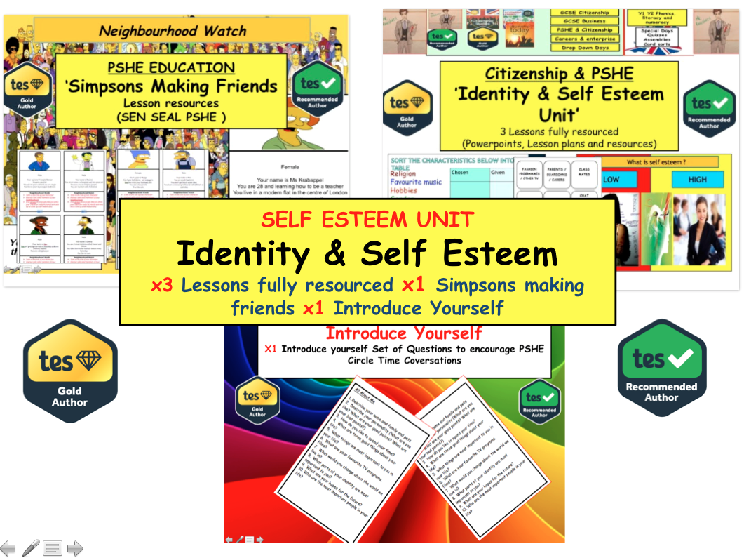 Teaching Identity and self esteem Resources and Activities. PSHE SEAL & Phonics