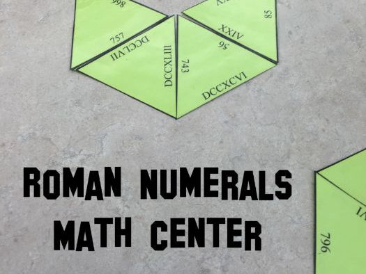 Roman Numerals Math Activity