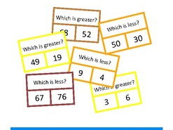 Autism Numbers to 100 Greater Less Clip Cards, Special Education, SEND