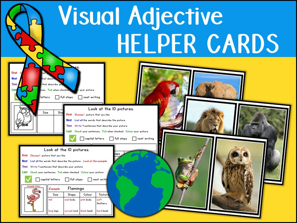 Visual Adjective Helper Cards (Autism)
