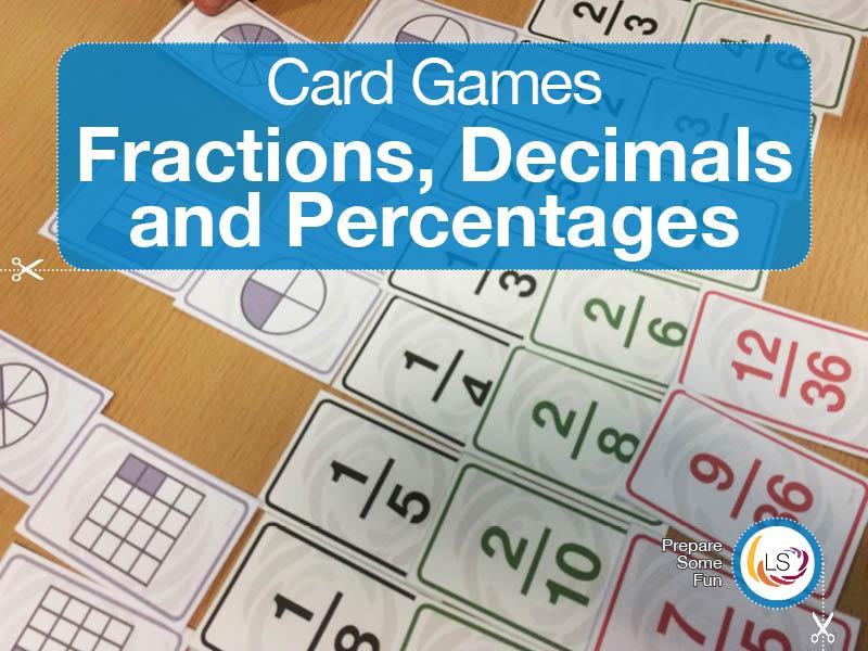 Fraction Decimal Percent Snap | Card Game