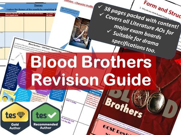 Blood Brothers GCSE Revision and Study Guide.
