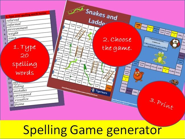 Spelling and vocabulary Review Game generator - Practise/Practice any words (Any language)
