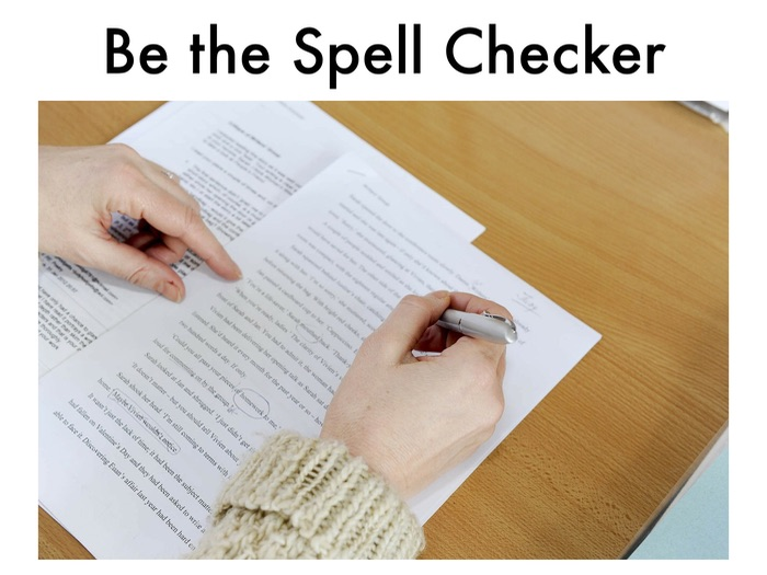 Be the Spell Checker! Shopping List