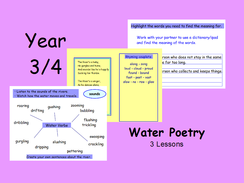 Year 3 Year 4 Water Poetry