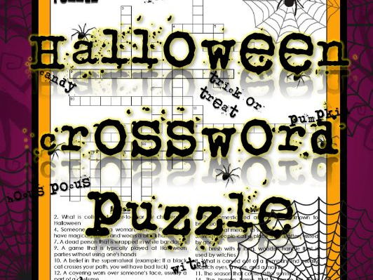 Halloween Activities! Crossword Puzzle and Word Search