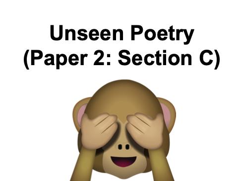 Unseen Poetry - GCSE AQA - KS4