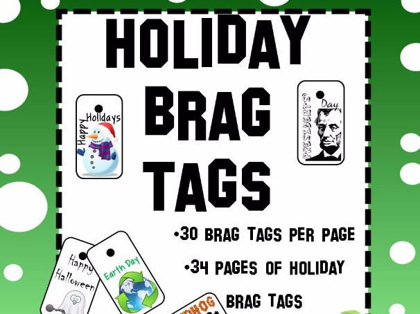 Holiday Brag Tags