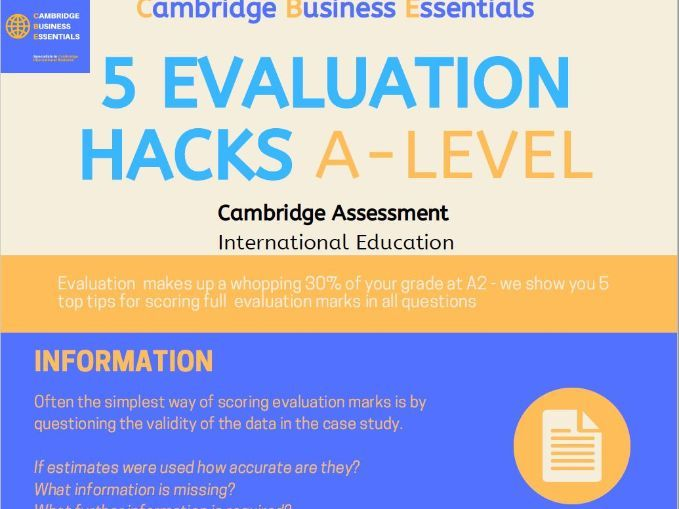 Business Evaluation at A-level 5 Top Tips