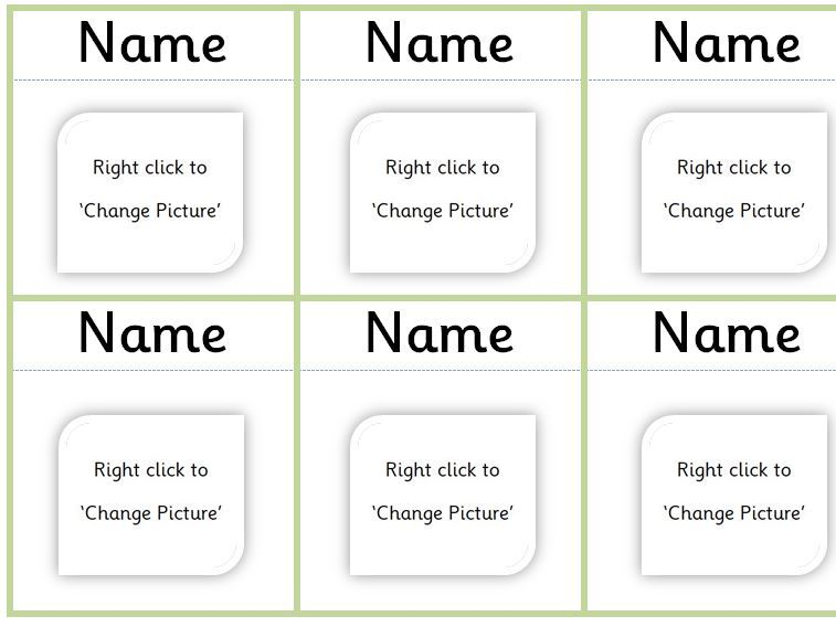 Editable peg labels - personalise for your own class