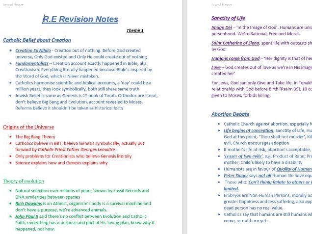 WJEC Eduqas GCSE Religious Studies Route B (9-1) Revision Notes