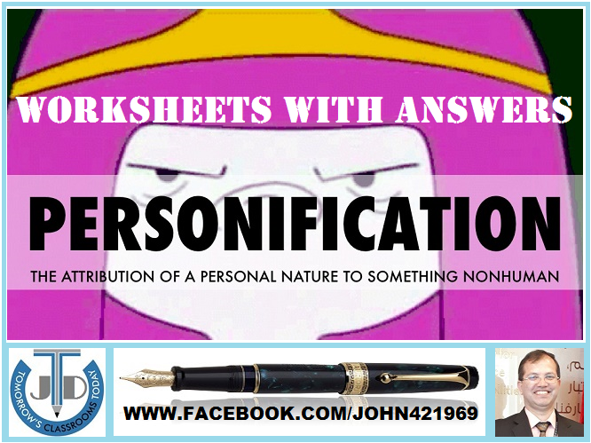 PERSONIFICATION WORKSHEETS WITH ANSWERS