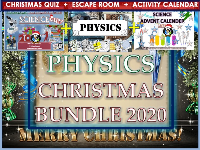 Physics Christmas 2019 Bundle - Science Quiz