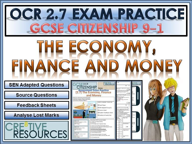 9-1 Citizenship OCR GCSE Exam Assessment: The Economy, Finance and Money