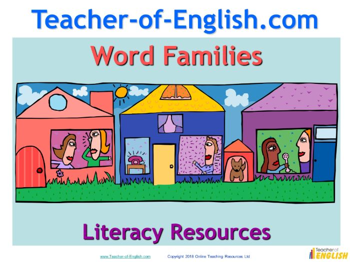 Word Families (PowerPoint teaching resource)